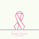 Breast Cancer Awareness Ribbon. vector icons. pink. Outline. minimal.
